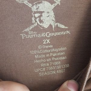 Disney Shirts & Tops - PIRATES OF THE CARIBBEAN BOYS T SHIRT 2XL OFFICAL